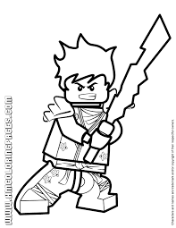 Small Picture Ninjago Kai KX Holding Elemental Weapon Coloring Page H M