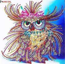 Online Shop <b>Huacan</b> Special Shaped <b>Diamond Painting</b> Owl ...