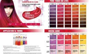 Matrix Color Chart Matrix Red Hair Color Chart Fashion Today