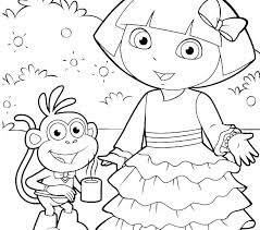Free Dora Colouring Pages The Free Printable Dora Colouring Pages