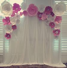 White Paper Flower Backdrop Paper Flower Backdrop Pink And White Hire Love Forever Grows