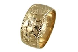 hawaiian wedding rings enement rings in 14k yellow gold are all custom made as low as