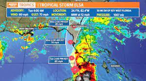 4 AM: Tropical Storm Elsa to strengthen ...
