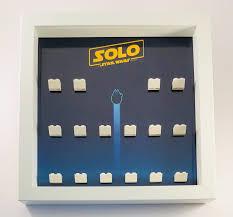 dettagli su minifigura vetrina cornice lego star wars storia assolo minifigs omini mostra il titolo originale