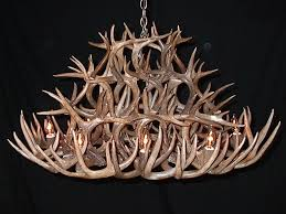 tall oval white tail chandelier