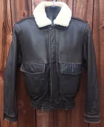 details about vtg j elkins pilot aviator er military navy usaf leather er jacket s