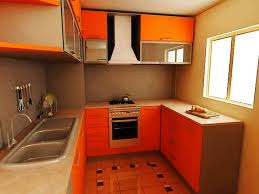 Small Kitchen Color Two Tone Kitchen Cabinets Orange Color For Small Kitchen Ideas Of