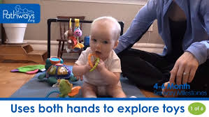 One Month Old Baby Milestone Video Of 4 6 Month Sensory Milestones Pathways Org