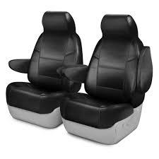 coverking premium leatherette 1st row black custom seat cover
