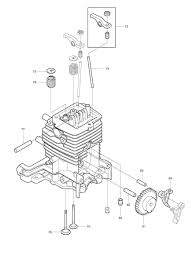 4stroke engine diagram spares for makita bhx2500 4 stroke petrol blower spare bhx2500 from of 4stroke
