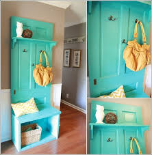 Door Coat Rack Pinterest Old door recycled into entryway bench For the Home Pinterest 2