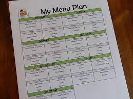 family menu template prepared lds family menu planning using a list of master menus