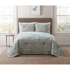 style 212 bedford blue twin xl quilt set