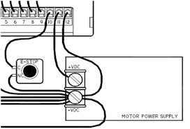 g540 initial setup guide step drives application notes the section of the diagram concerning that is shown below the enable hooked up to an emergency stop switch if this is not done then the g540 will