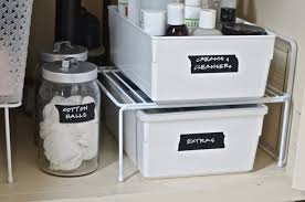 Under The Kitchen Sink Storage How To Organize Under A Bathroom Sink