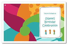 Birthday Invitation Cards For Kids With Customized Details Ie Name