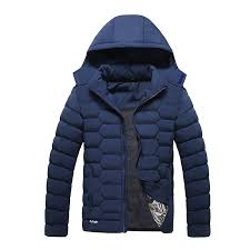 zxfhzs men s lightweight puffer thick quilted cotton padded jacket with hoo 1