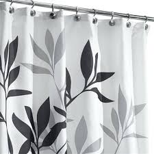 black white and gray shower curtain tree branch leaves black white grey fabric shower curtain black