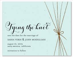 tie the knot wedding save the date on seeded paper The Knot Wedding Envelope Etiquette knot wedding save the date on seeded paper Stuffing Wedding Envelopes Etiquette