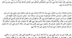 essay pollution in urdu my dream job electrical engineer essay essay pollution in urdu