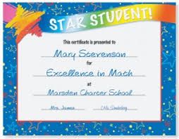 Star Student Certificates Perfect Attendance Certificates For Star Students