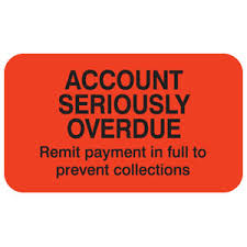 Overdue Account Account Seriously Overdue Label 1 1 2 X 7 8 250 Rl Map1400