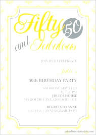 50th birthday party invitation wording fun birthday party invitation wording ideas bash invitations 50th bday party