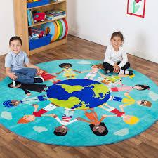multicultural circular rug 200cm large