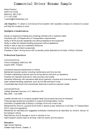 Professional Experience Commercial Job Objective Bus Driver Resume