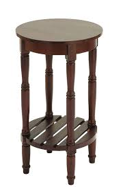 interior com benzara wood round side table by inch inspiring bedside designs with storage round side