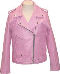 childrens brando pink leather motorcycle jacket p