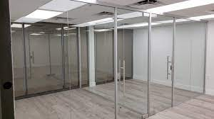 office glass wall partitions floor to