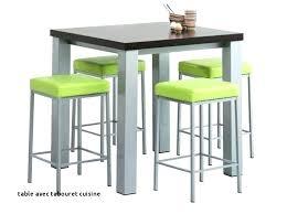 Table De Cuisine Avec Tabouret Table Cuisine La Pour Bar Table