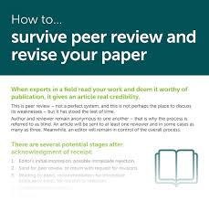 How To Revise A Paper How To Survive Peer Review And Revise Your Paper Part 1