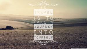 travel hd wallpaper with quote