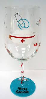 NURSE WINE GLASS hand painted wine glass by Pendragonartworks, via Etsy.