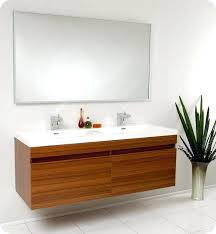 largo teak modern double bathroom vanity with faucet medicine cabinet and linen side option sink cabinets