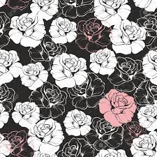 Seamless Vector Dark Floral Pattern ...