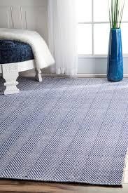 home interior dash and albert herringbone rug swedish blue woven cotton image 1 from
