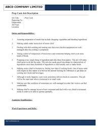 Cook Resume Jd Templates Chef Job Description Uk Cooking Cook Resume Template 93