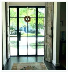 metal entry door with glass steel entry doors glass front with ways double