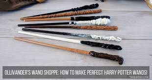 how to make perfect harry potter wands