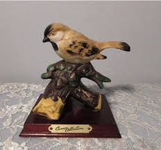 Cameo Collection Goldfinch Bird Figurine Hand Painted
