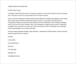 sample letter of recommendation for college student 12 letter of recommendation for student templates pdf