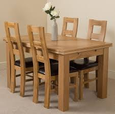 set of 4 dining chairs. Richmond Solid Oak 140cm-220cm Extending Dining Table With 4 Yale Chairs Set Of