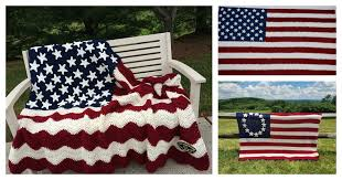 American Flag Crochet Pattern Unique American Flag Blanket Free Crochet Pattern