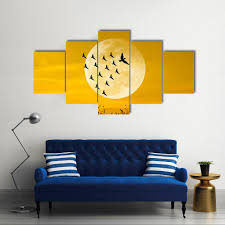 leadership concept with moon and birds multi panel canvas wall art on multi panel canvas wall art set with leadership concept with moon and birds multi panel canvas wall art