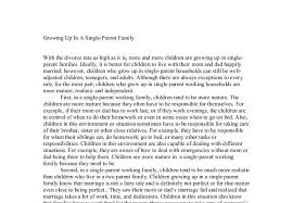 growing up in a single parent family a level psychology marked  document image preview