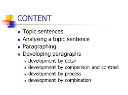organization of academic paper ppt video online  content topic sentences analysing a topic sentence paragraphing