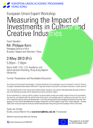 work measuring the impact of investments in culture and creative industries